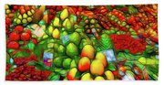 Fruit Stand At La Boqueria Beach Towel