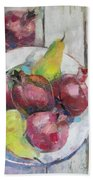 Fruits In Vintage Beach Towel