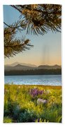Frye Lake Flowers Beach Towel