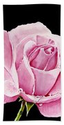 Fuchsia Rose Beach Towel