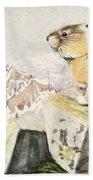 Fuertes, Louis Agassiz 1874-1927 - Burgess Animal Book For Children 1920 Pika Beach Towel