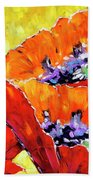 Full Bloom Poppies By Prankearts Fine Art Beach Towel