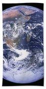 Full Earth Beach Towel by Stocktrek Images