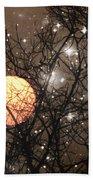 Full Moon Starry Night Beach Towel