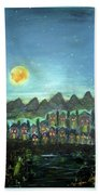 Full Moon Village Beach Towel