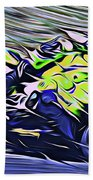 Fullspeed On Two Wheels 8 Beach Towel
