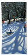 Fun In The Snow Beach Towel