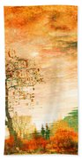 Funky Reflections Beach Towel