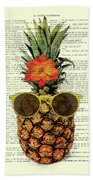 Funny And Cute Pineapple Art Beach Sheet