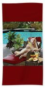 Funny Pet  Vacationing Kitty Beach Towel