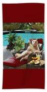 Funny Pet  Vacationing Kitty Beach Towel