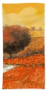 fuoco di Toscana Beach Towel by Guido Borelli