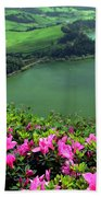 Furnas Lake Azores Beach Towel
