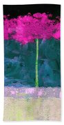 Fuschia Trees Beach Towel