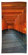 Fushimi Inari Taisha Shrine In Kyoto, Japan Beach Towel