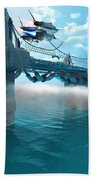 Futuristic Skyway Beach Towel