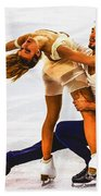 Gabriella Papadakis And Guillaume Cizeron Beach Towel