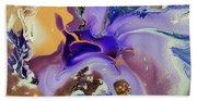 Galactic Portal. Abstract Fluid Acrylic Pour Beach Towel