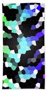 Galaxy In Time Abstract Design Beach Towel