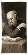 Galileo With Compass And Diagrams Beach Towel