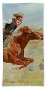 Galloping Horseman Beach Towel