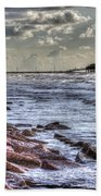 Galveston's Piers Beach Towel