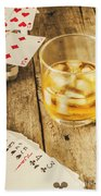 Gamblers Still Life Beach Towel