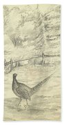 Game Bird By W  Buelow Gould  C 1835  Beach Towel