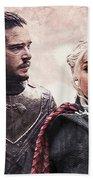 Game Of Thrones. Jon Snow And Daenerys Targaryen Beach Towel