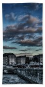 Stockholm In Dark Beach Towel
