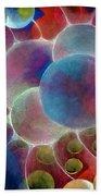 Gamma Burst II Abstract Pattern Art Beach Towel