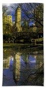 Gapstow Bridge In Central Park Beach Towel