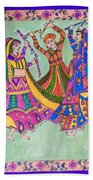 Garba Dance Beach Towel