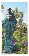Garden At Carmel Mission-california Beach Towel