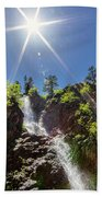 Garden Creek Falls Beach Towel