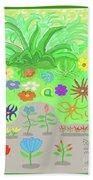 Garden Of Memories Beach Sheet