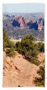 Garden Of The Gods And Springs West Side Beach Towel