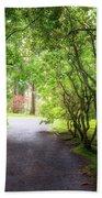 Garden Path In Spring Beach Sheet