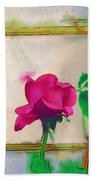 Garden Rose Beach Towel
