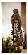 Garden Saint Beach Towel