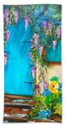 Garden Secrets - Wisteria Beach Towel