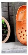 Garden Shoes Waiting Beach Towel