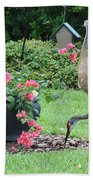Garden Visitors Beach Towel