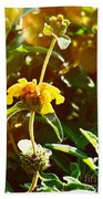 Garden Yellow Beach Towel