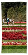 Gardens Of The Schloss  Schonbrunn  Vienna Austria Beach Towel