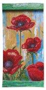 Gardens Poppy Beach Towel