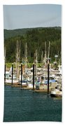 Garibaldi Oregon Marina Beach Towel