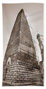Garisenda Tower In Bologna Beach Towel