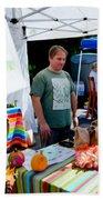 Garlic Festival Vendors Beach Towel