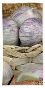 Garlic In The Basket Beach Towel